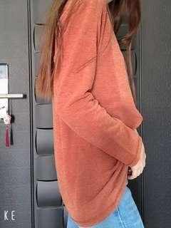 🚚 紅磚/杏長上衣