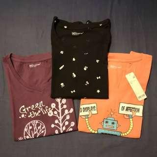 lativ 短袖 #S 粉橘、紫、黑