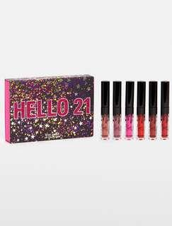 Kylie cosmetics hello 21 birthday lip trio
