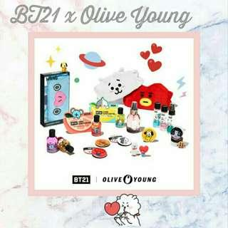 BT21  x Olive Young collaboration