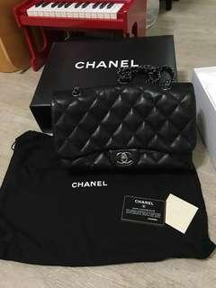 Chanel Three medium 羊皮