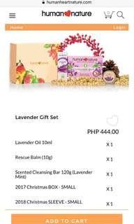 Lavender Christmas Gift Set