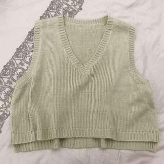🚚 秋冬❄️針織 米色 短板 背心 杏色 款背心 毛衣