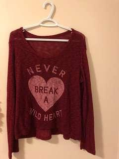 Maroon/burgundy Knit Sweater
