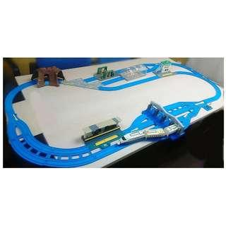 TOMY TRAIN SET  WITH TRACK & ACCESSORIES