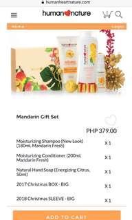 Mandarin Christmas Gift Set