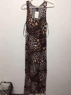 H&M leopard print maxi dress
