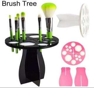 Brush tree brush holder pengering kuas makeup