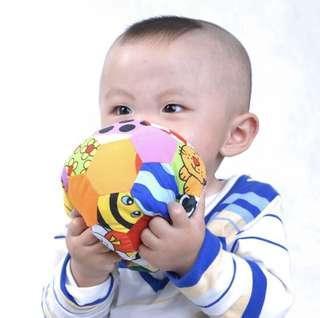 Lalababy soft cotton arts cloth ball multicolored sensory #momjualan