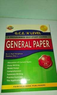 GCE A level General Paper - A programmed self study course