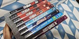 PS3 ORIGINAL DISCS 2 for 100