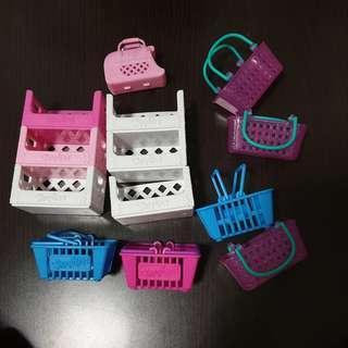 Shopkins shelves and basket