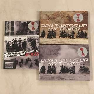 sealed instock exo don't mess up my tempo album poster