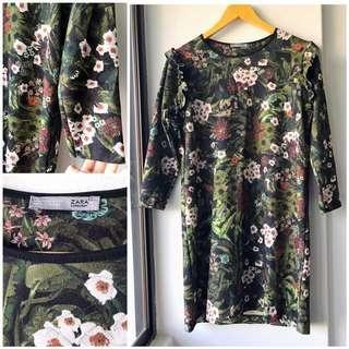 Zara botanical dress