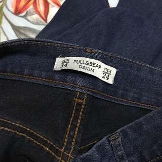 🚚 pull & bear knee slit jeans
