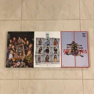 instock sealed twice yes or yes album poster a b c