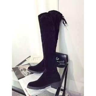Over-the-knee Woman's Boots bahan suede, ringan