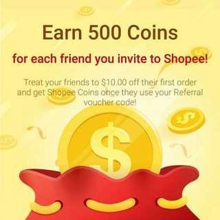 Free $10 Shopee credits