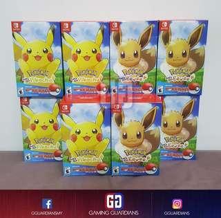 NS Pokemon Let's Go Bundle Set