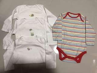 [Brand New] (6M-9M) Mothercare Longsleeve Bodysuit