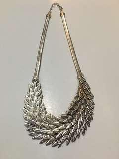 銀色頸鍊 necklace