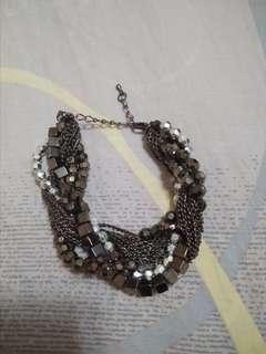 SHINY METAL BEADS BRACELET