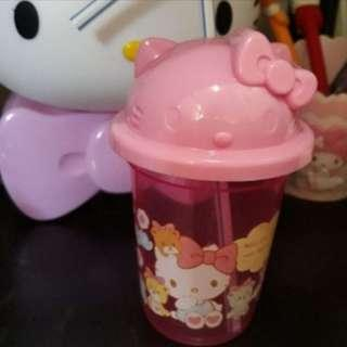 Hello kitty straw cup authentic from Japan