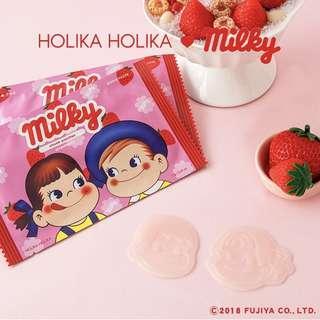 🇰🇷購於韓國 Holika Holika x peko 牛奶妹 草莓凍面膜 10片