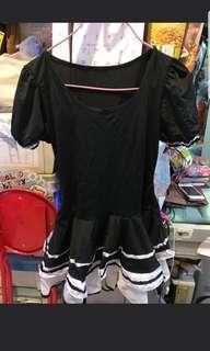 性感短裙黑色水手服,一set水手服, 包黑色長絲襪, 連黑色裙子以及水手領巾