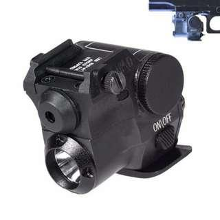 Tactical Compact Green Laser  LED Flash