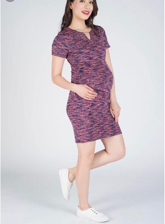 89170933b943c 2 dresses deal! Jumpeatcry Issa dark rainbow bodycon maternity ...