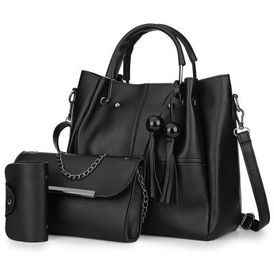 3pcs PU Leather Handbag Women Shoulder Bag Card Holder, Women s Fashion,  Bags   Wallets, Handbags on Carousell f2afbbd896