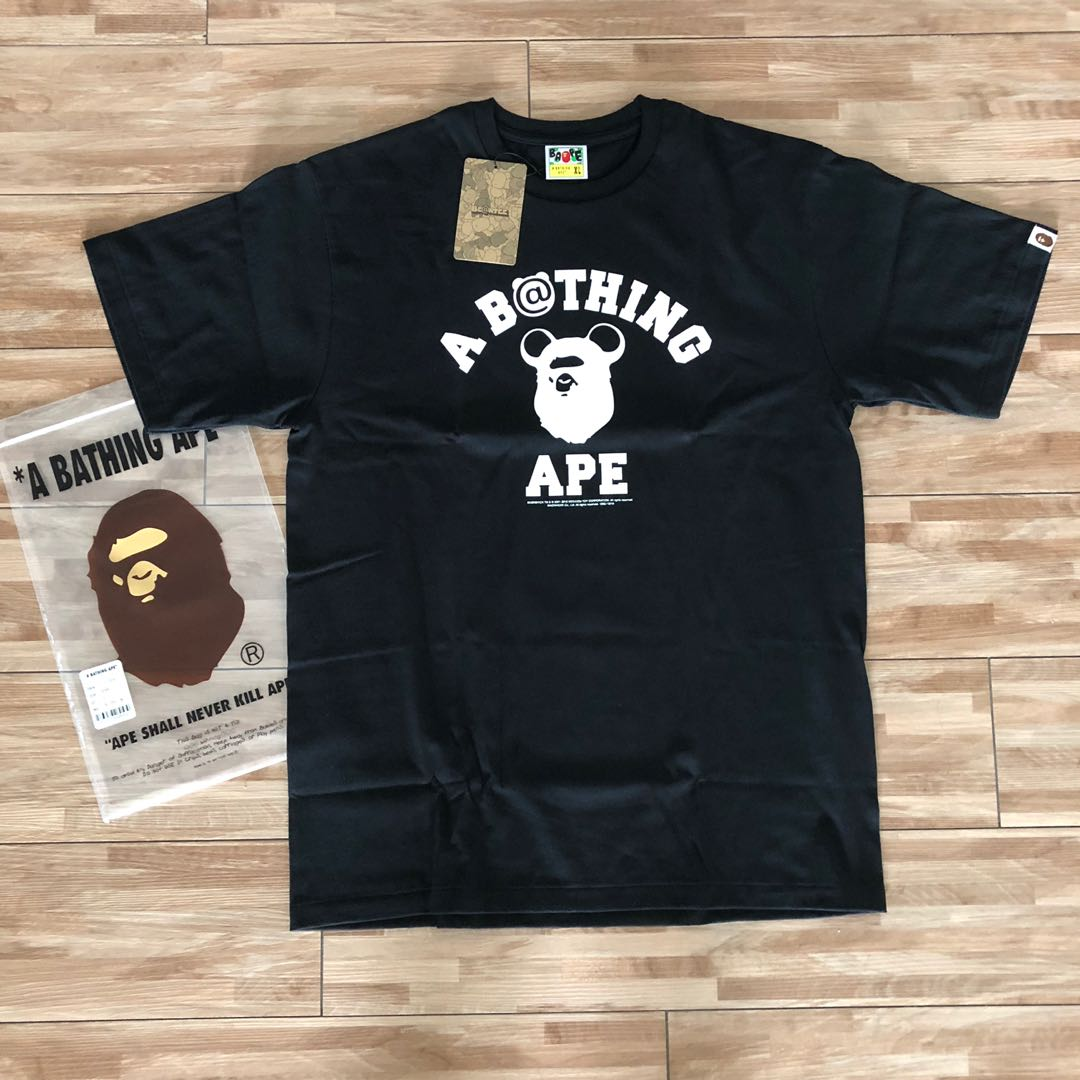 e0a1f2d53 A Bathing Ape Bape x Be@rbrick Tee, Men's Fashion, Clothes, Tops on ...