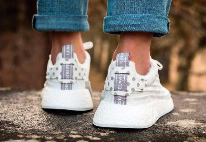 new arrival 4b034 1d97f Adidas NMD R2 (White w polka dot), Women s Fashion, Shoes, Sneakers ...
