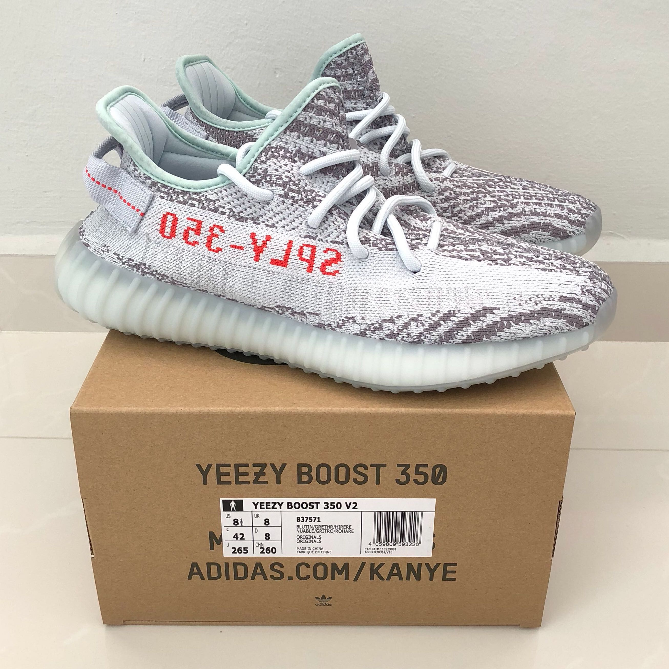 5f104e0fba9 Adidas Yeezy Boost 350 V2  Blue Tint