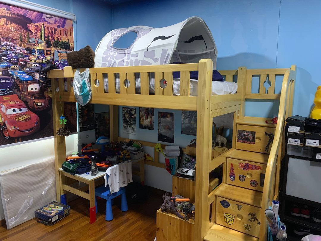 Outstanding Awesome Ibenma Loft Bed For Kids With Desk Chair Bralicious Painted Fabric Chair Ideas Braliciousco