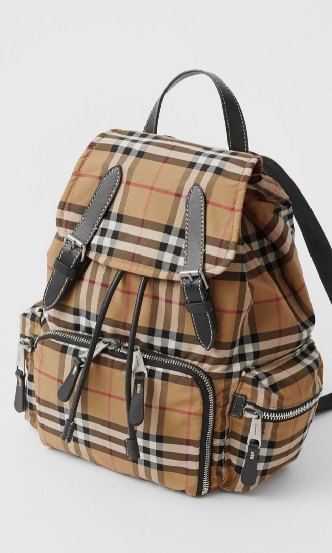 bfc898352818 Burberry Medium Rucksack in Vintage Check Nylon