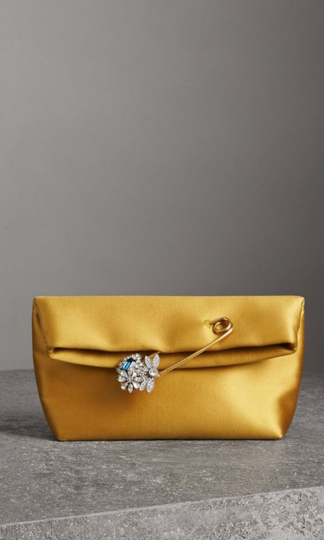 e793205b6998 Burberry Small Pin Clutch in Satin