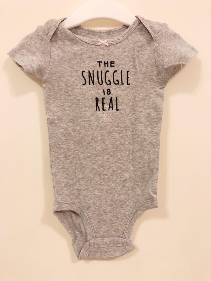 """774de3df1 Carter's """"The Snuggle Is Real"""" Graphic Onesie, Babies & Kids, Babies ..."""