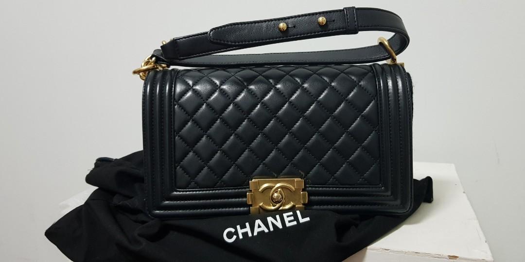 3139a1514e8d Chanel Boy Medium, Luxury, Bags & Wallets, Handbags on Carousell