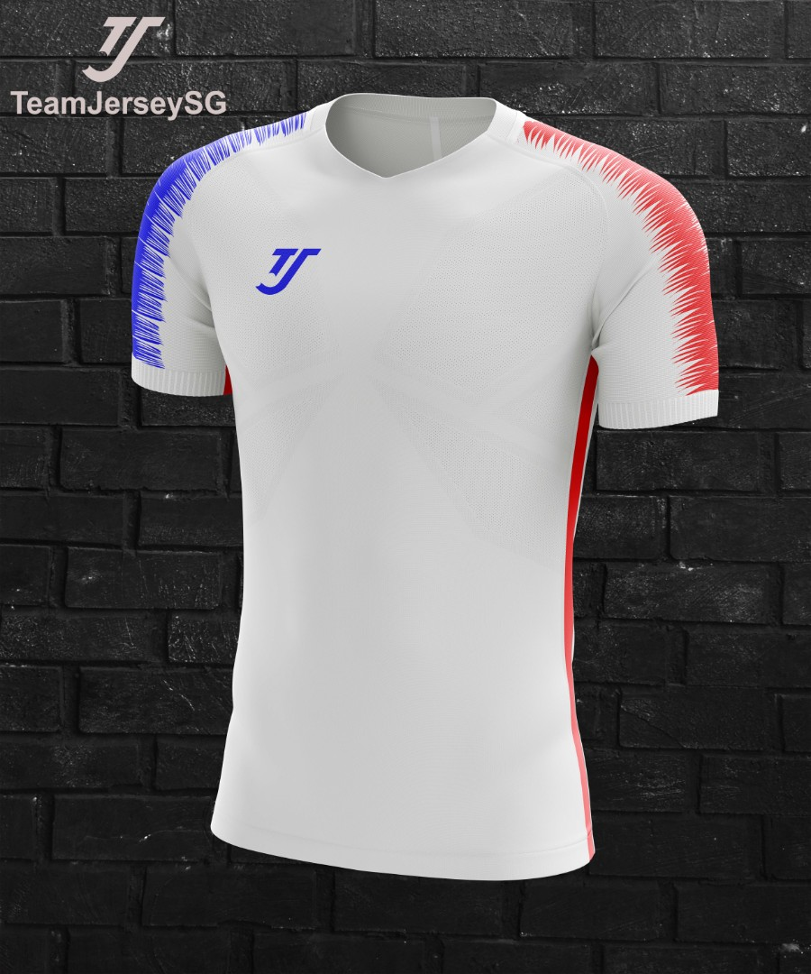 6dd2df9162e Customize team soccer jersey white red blue - TJ (free printing ...