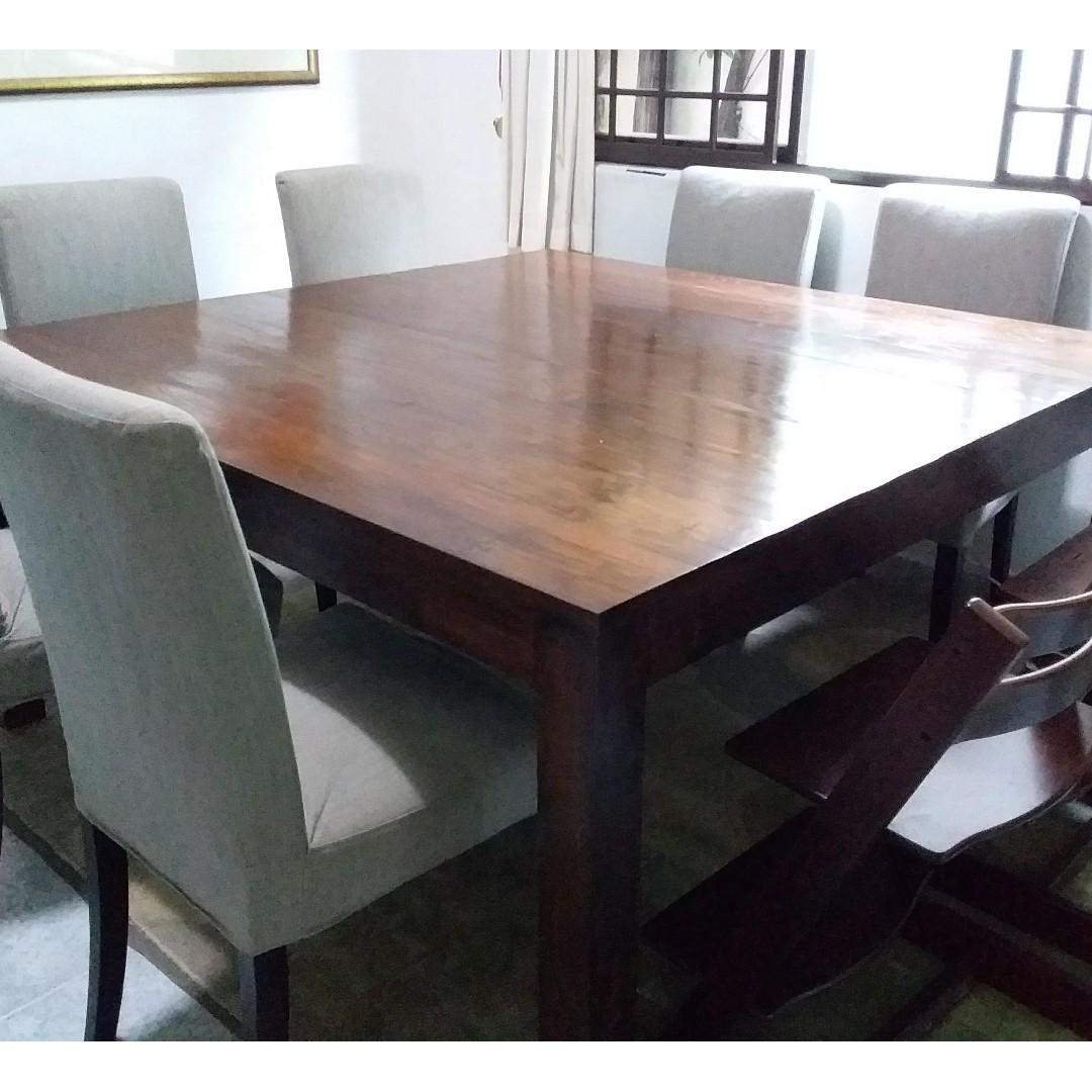 Picture of: Dining Table 8 Seater Square Furniture Tables Chairs On Carousell