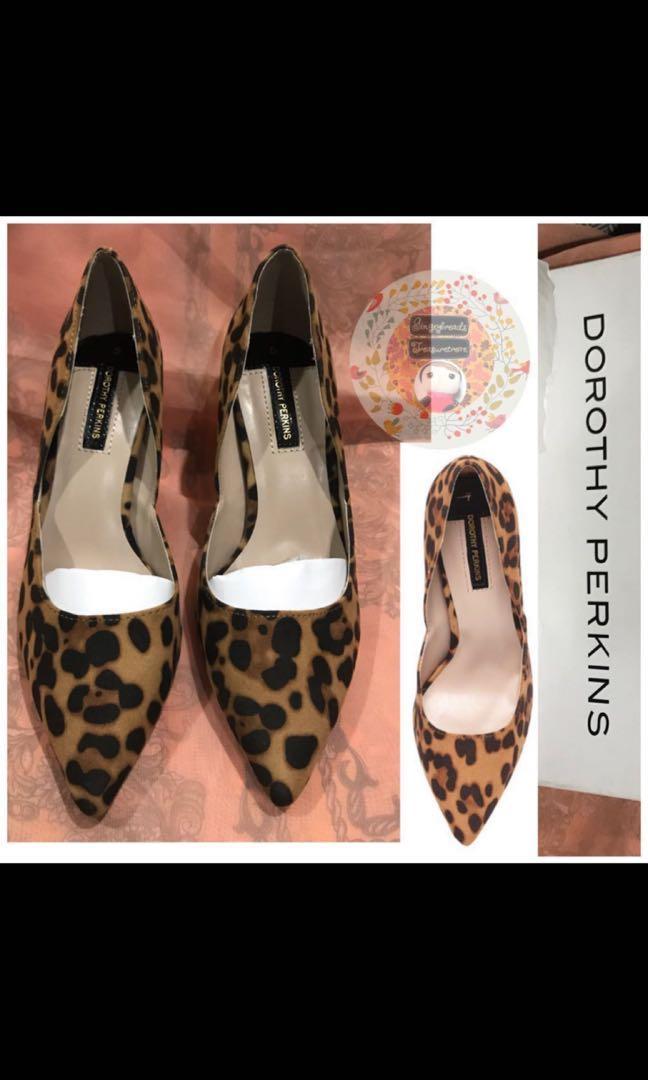 Dorothy Perkins Leopard D'Orsay Shoes