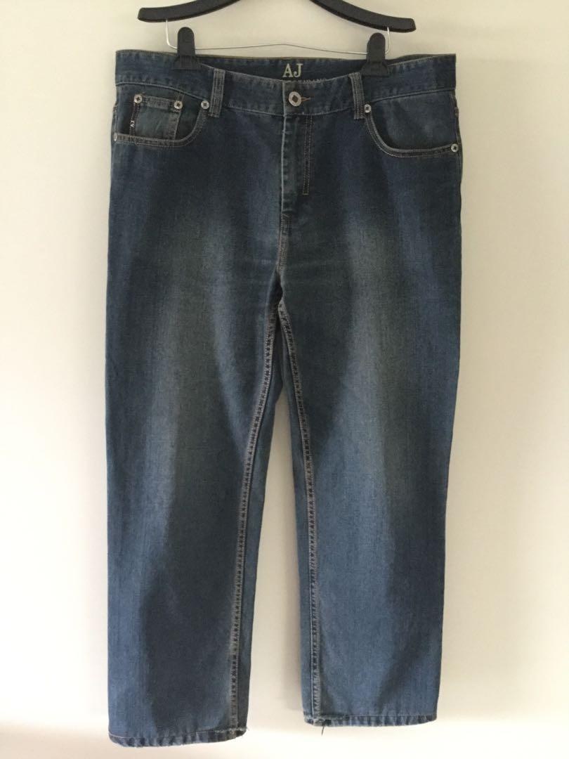 Emporio Armani men's jeans cotton dark wash denim size 38
