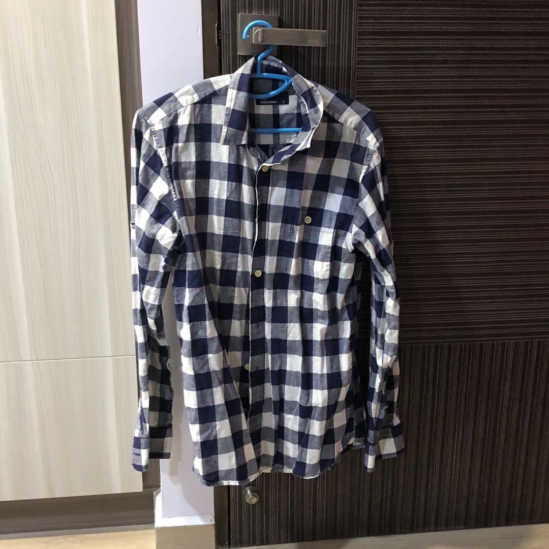 84ddb28da Fred perry blue checked shirt