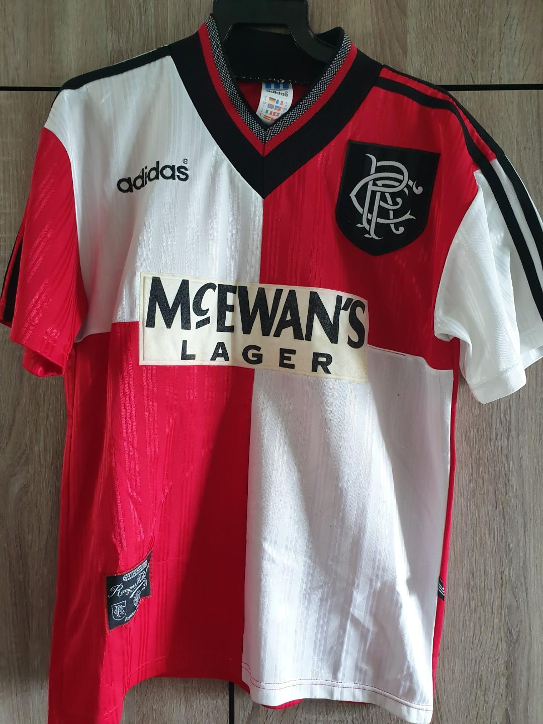 buy popular b9e1c 752ee Glasgow Rangers vintage shirt 1995-96 away jersey, Sports ...