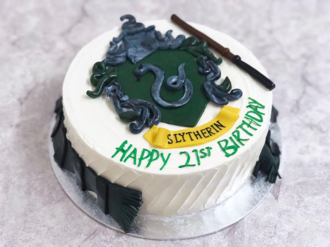 Harry Potter Slytherin House Cake Food Drinks Baked Goods On