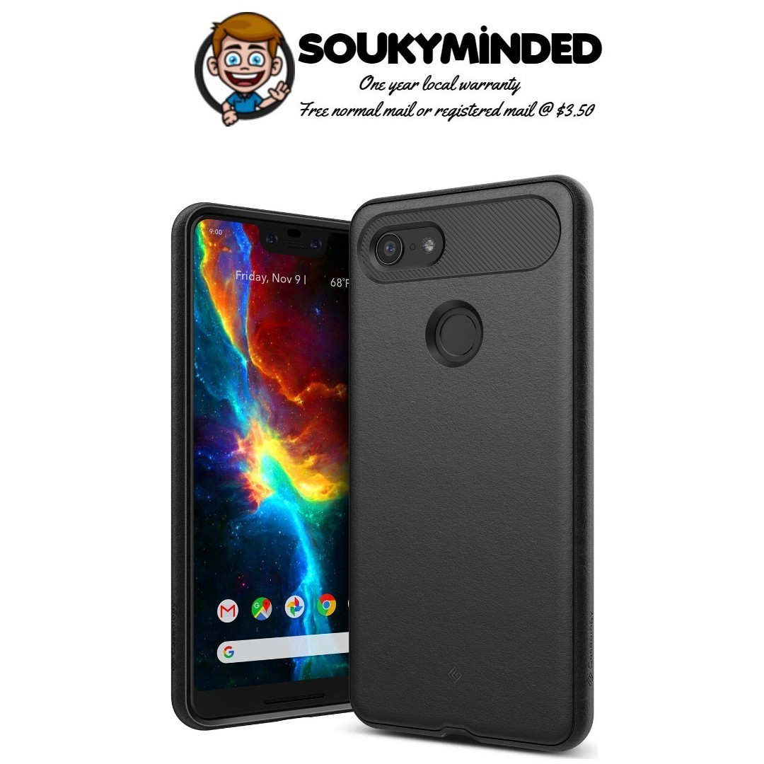 the latest e55bc 25a2b [IN-STOCK] Caseology [Vault Series] Google Pixel 3 XL Case - [Rugged Matte  Finish] - Black