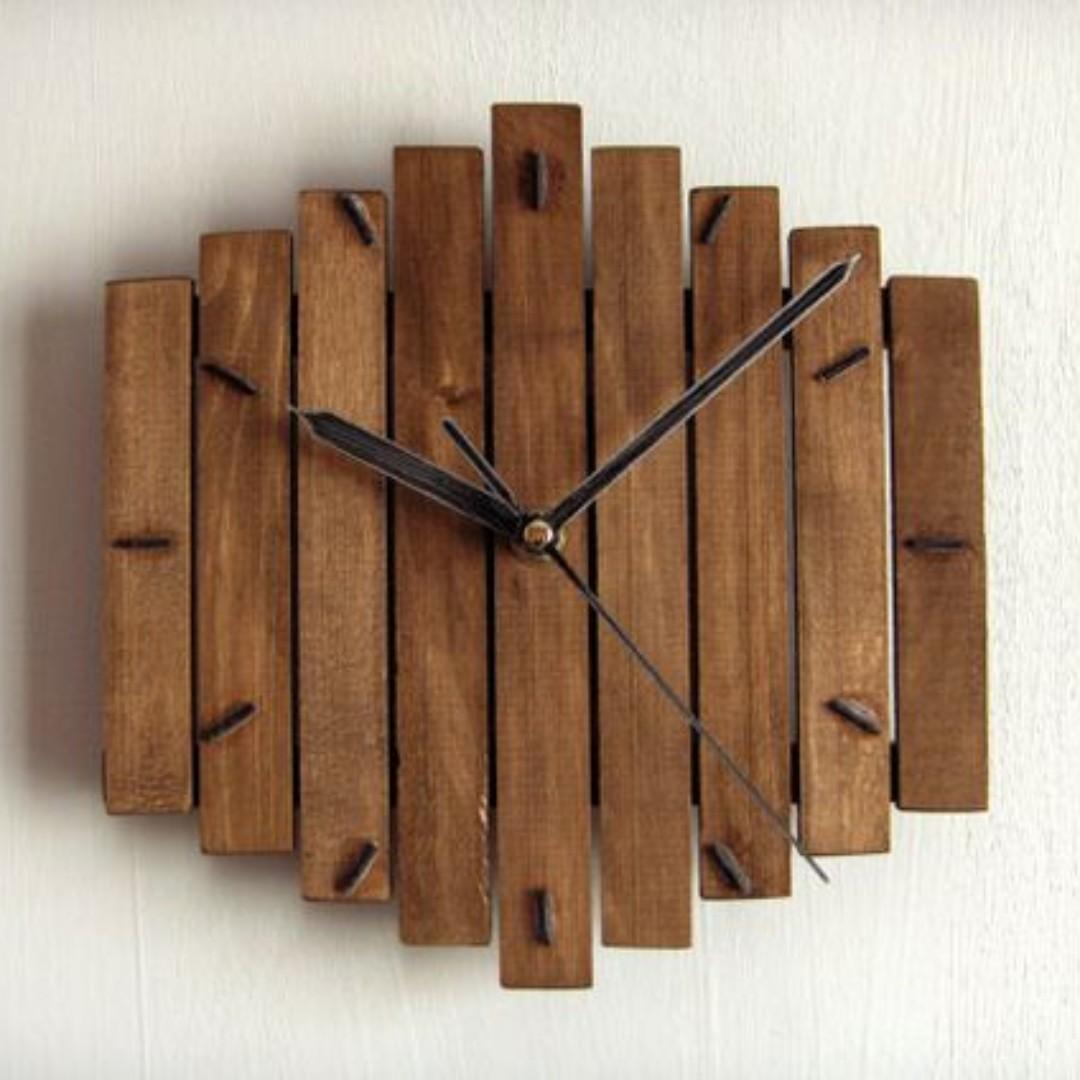 Jam Dinding Unik Dari bahan kayu b3518a1955