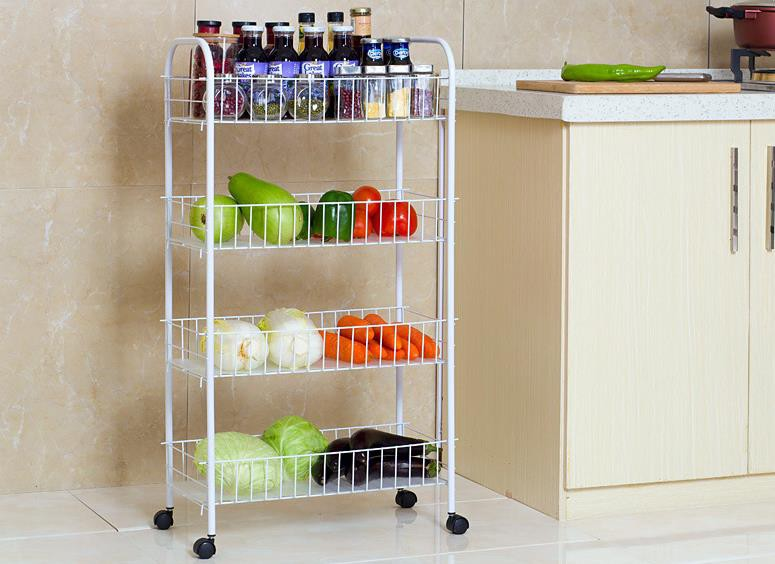 Kitchen Storage & Organisation Color : RED P&D With Pulley Shelf 3
